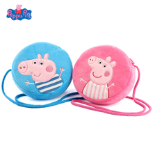Wallet Plush-Bag Gifts Small Girl Cartoon New Fashion Pink for Birthday Pig Trend Round