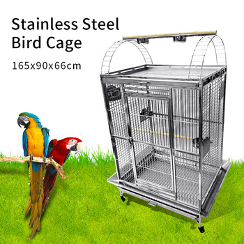Stainless Steel Parrot Cage 40''*30''*67'' 1