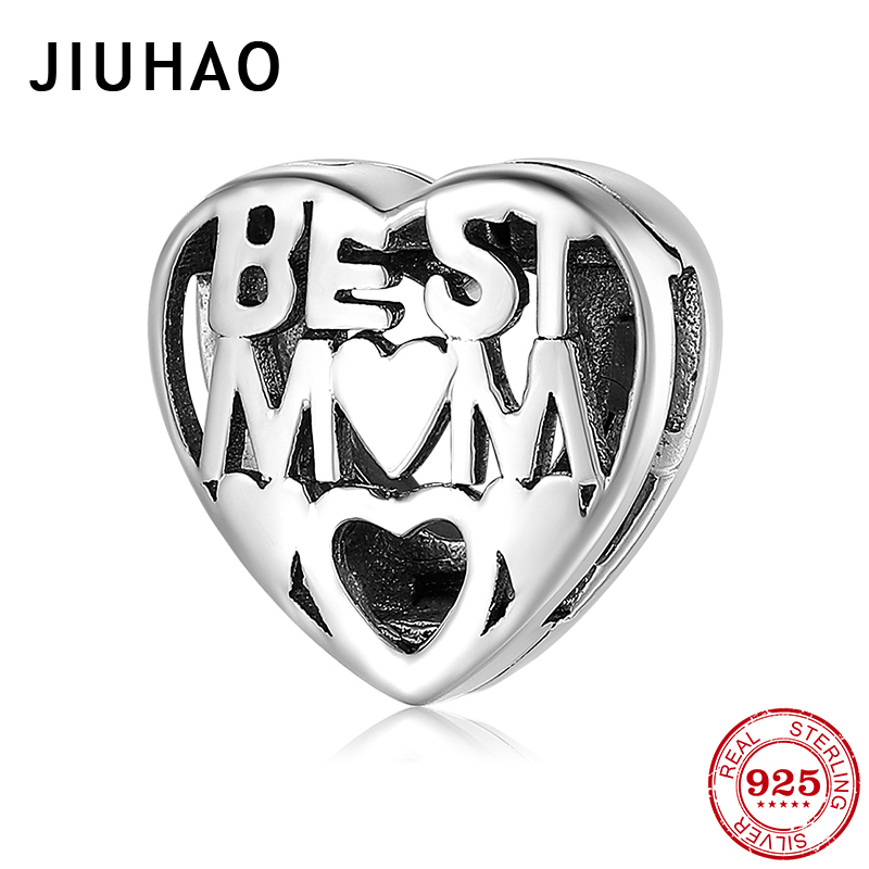 925 Sterling Silver Best Mom Clips Beads Zircon Charm Fit Original Reflection Bracelet Bangles Fashion Silver 925 Jewelry