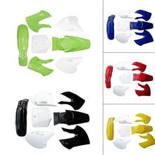5 farben Karosserie Kunststoff Verkleidung Körper Kit Fender Für BBR Stil 110cc 125cc 140cc 150cc Dirt Pit Bike motorrad teile fender