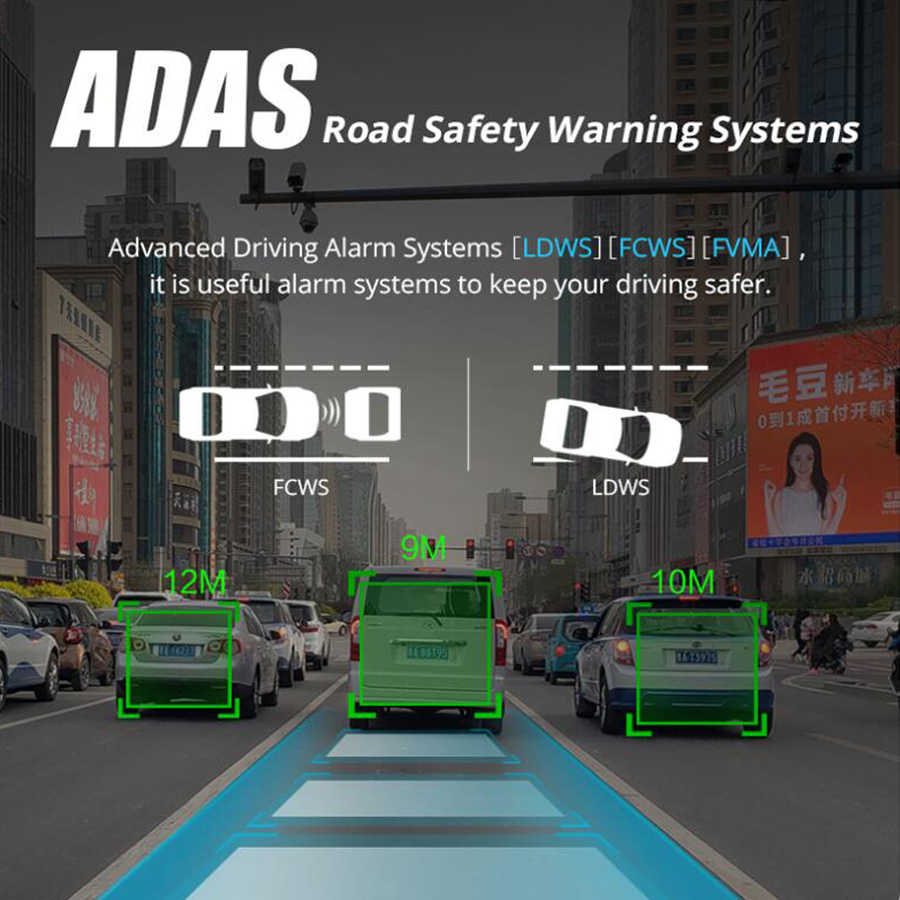 """QUIDUX أندرويد 11.66 """"اللمس سيارة مرآة فيديو 4G داش كام لتحديد المواقع الملاح ADAS FHD 1080P المزدوج مرآة الرؤية الخلفية للكاميرا مسجل دي في أر"""
