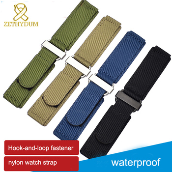 Hook-and-loop fastener Nylon watch strap 22mm 24mm sport watchband velcro nato strap 22mm watch band High-quality buckle