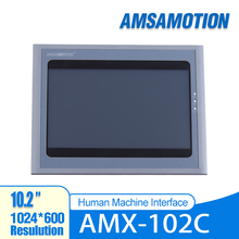 AMSAMOTION 10.2'' Inch HMI AMX-102C Touch Screen 1024*600 Ethernet Port Human Machine Interface Touch Panel Free Software touch screen 7 inch hmi mt4434t 800 480 machine interface new