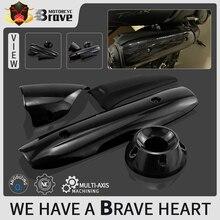 4 arten Motorrad Auspuffrohr Abdeckung Gugel Für XP500 TMAX 500 530 SX/DX 2011 2012 2013 2014 2015 2016 TMAX500 TMAX530 T MAX