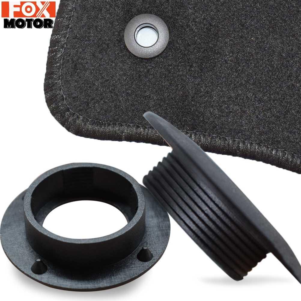 8x para range rover evoque freelander 2 piso do carro esteira clipes suportes mangas preto auto tapete fixação apertos grampos acessórios do carro