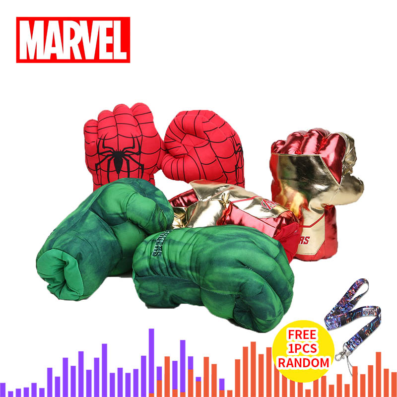 33cm Marvel Avengers Endgame Incredible Superhero Figure Spider Man The Hulks Toys Iron Man Boxing Gloves Boy Gift Hulk Gloves