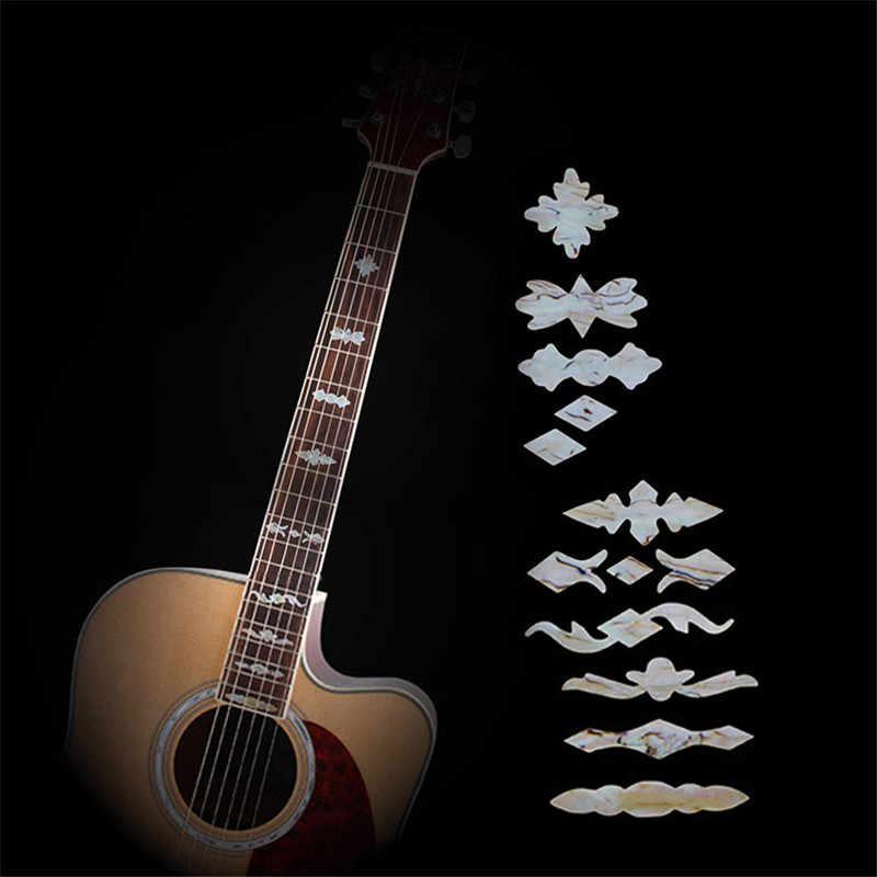 גיטרה Fretboard שיבוץ מדבקות חיקוי Abalone גיטרה לדאוג צוואר מדבקות