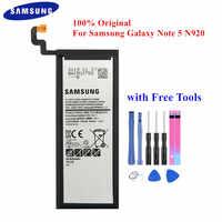 100% Original Batterie EB-BN920ABE für Samsung Galaxy Note 5 SM-N920 N920F N920T N920A N920I N920G N9200 N920G/DS 3000mAh Akku