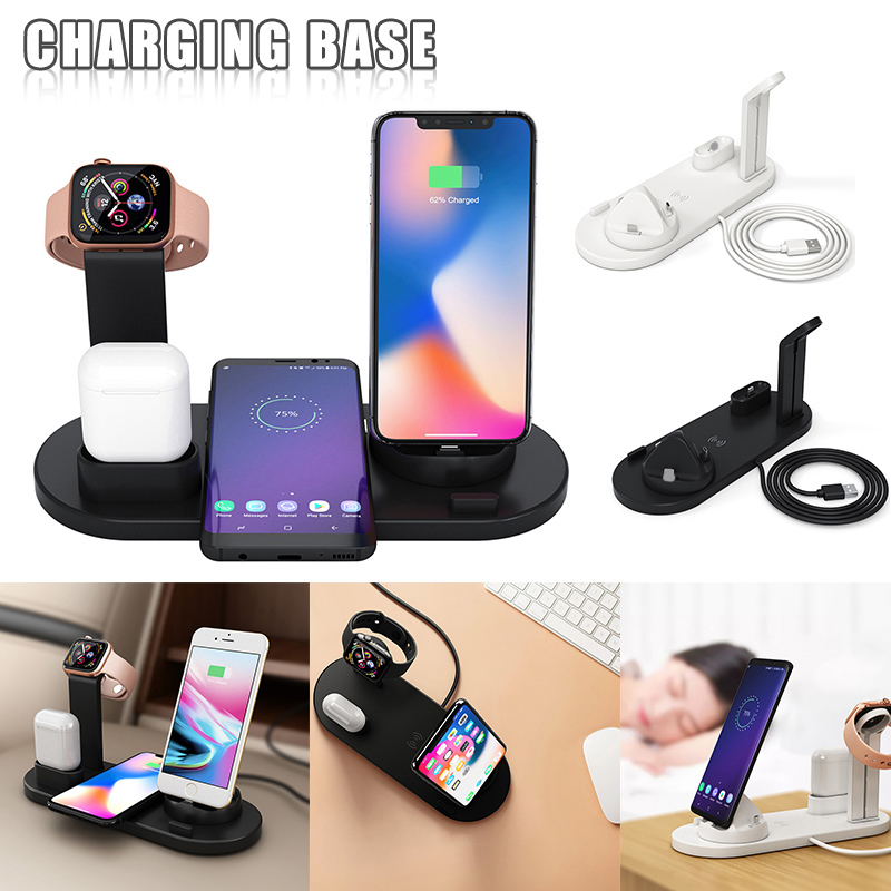 2019 Drop ship Charger Mount Wire Wireless Charging Bracket for Smart Phone Watch Earphone S888