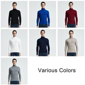 Image 5 - COODRONY Рождественский свитер Мужская одежда 2020 Зимний толстый теплый повседневный трикотажный пуловер с высоким воротом классический чистый цвет джемпер 8253