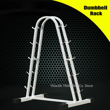5-Pair Vertical Dumbbell Rack, Solid A-Frame Dumbbell Rack, Gym Weight Plate and Dumbbell Storage Rack with Compact Design