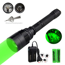 Lampe torche puissante avec zoom, lanterne tactique pour la chasse + batterie lampe de poche LED + chargeur, 10000 18650 lumens