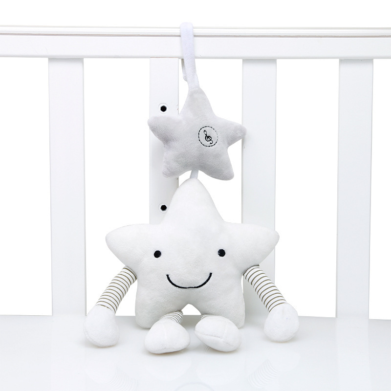 New Style White Five-pointed Star Music Wind Chime Pendant Baby Car Hanging Bed Hanging Accompany Sounding Toys Wholesale