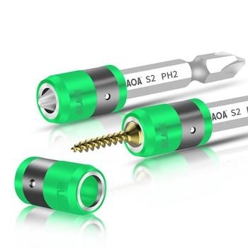 LAOA S2 1 4 #8222 wkrętak Bit z pierścień magnetyczny 6 35mm elektryczne końcówki śrubokrętów i magnetyzm pierścień tanie i dobre opinie Wielofunkcyjny Szczelinowe CN (pochodzenie) Stali stopowej Poniżej 5 Sztuk