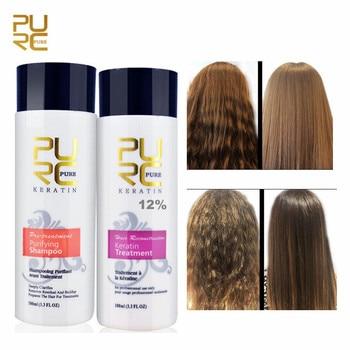 цена на PURC 12% 100ml Brazilian Formalin Keratin Hair Treatment+100ml Purifying Shampoo Hair Care Products Straight Hair Treatment 2018