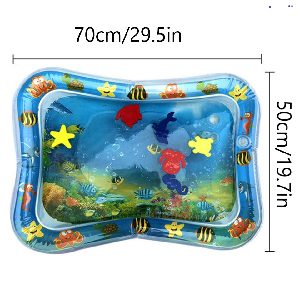 Original 2020 New Inflatable Baby Water Mat Infant Tummy Time Playmat Toddler Fun Activity Play Center For Sensory Stimulation