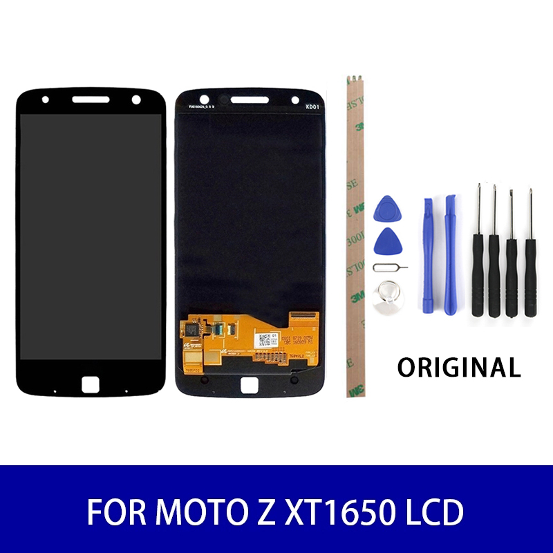 Original Quality For Motolora Moto Z <font><b>XT1650</b></font> <font><b>Lcd</b></font> Display Touch Screen Panel Digitizer Assembly Screen Replacement Parts 2560x1440 image