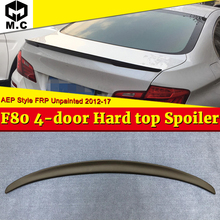 F80 M3 sedan duckbill Trunk Spoiler FRP Unpainted For BMW 3-Series 325i 328i 330i 4-Door Hard Top AEP Style Wings 12-17