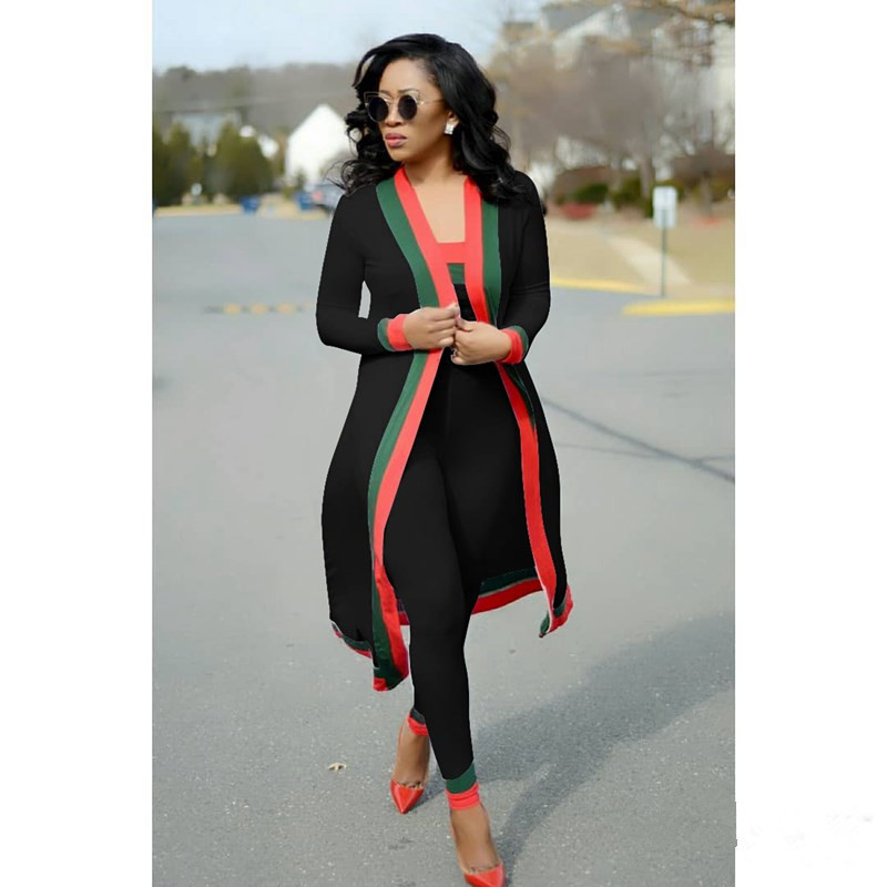 3 2 Piece Set Outfits For Women Matching Festival Clothing Co Ord Sets Striped Stitching Cardigan Kimono Crop Top Pant Suits