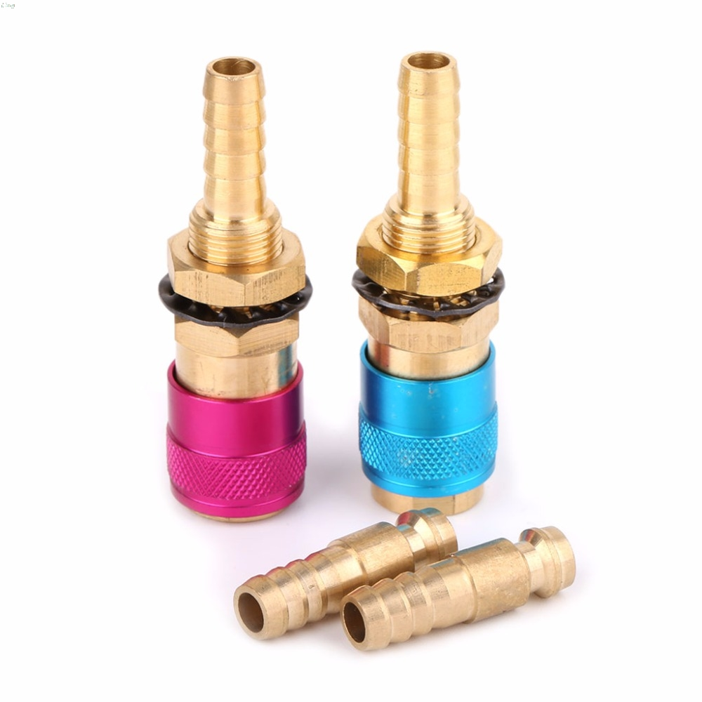 Water Cooled Gas Adapter Quick Connector Fitting For TIG Welding Torch +8mm Plug L29K