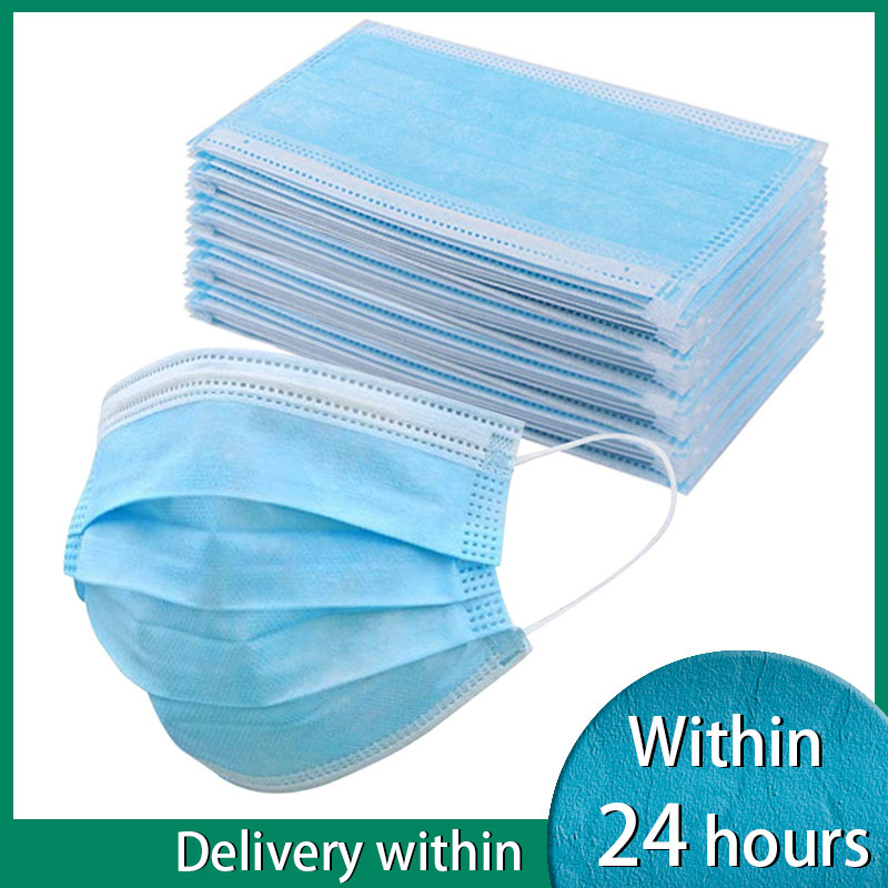 3 Layer Non-woven Dust Mask Thickened Disposable Mouth Kids Mask Features As FFP2 KF95 10-50pcs/Bag
