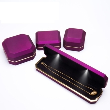 Long LED Jewelry Bracelet Display Box Engagemen Gift Storage Jewellery Necklace Boxes and Packaging New Arrivals