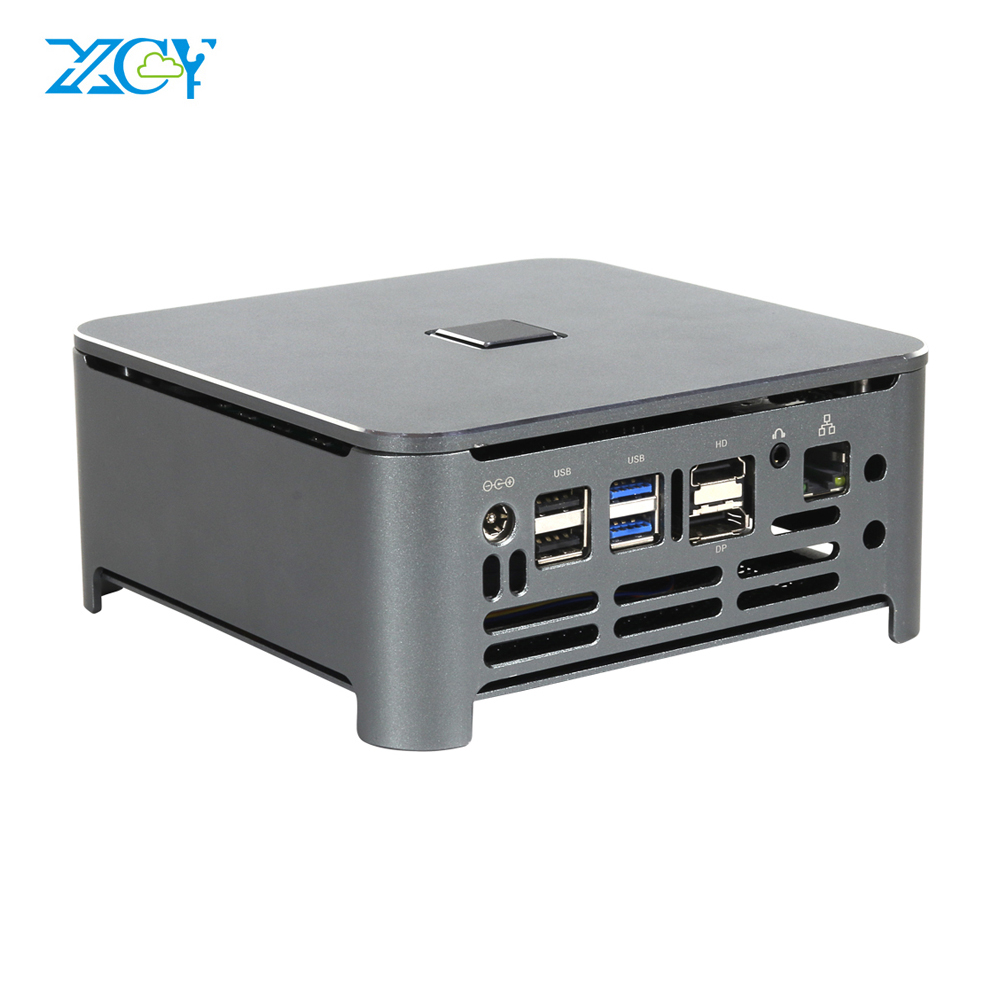 XCY Mini PC Dual DDR4 RAM Core I9 9880H I5 9400H I7 8450H M.2 SSD 4K UHD DP HDMI Windows 10 9th Gen Nettop Computer Desktops