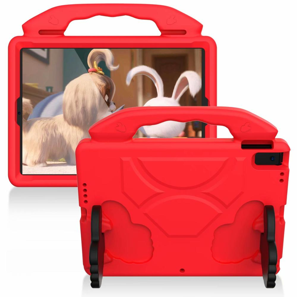 red Red Thumb Kids Friendly Safety Cover For iPad 10 2 2019 7th Generation A2200 A2198 A2232 Case