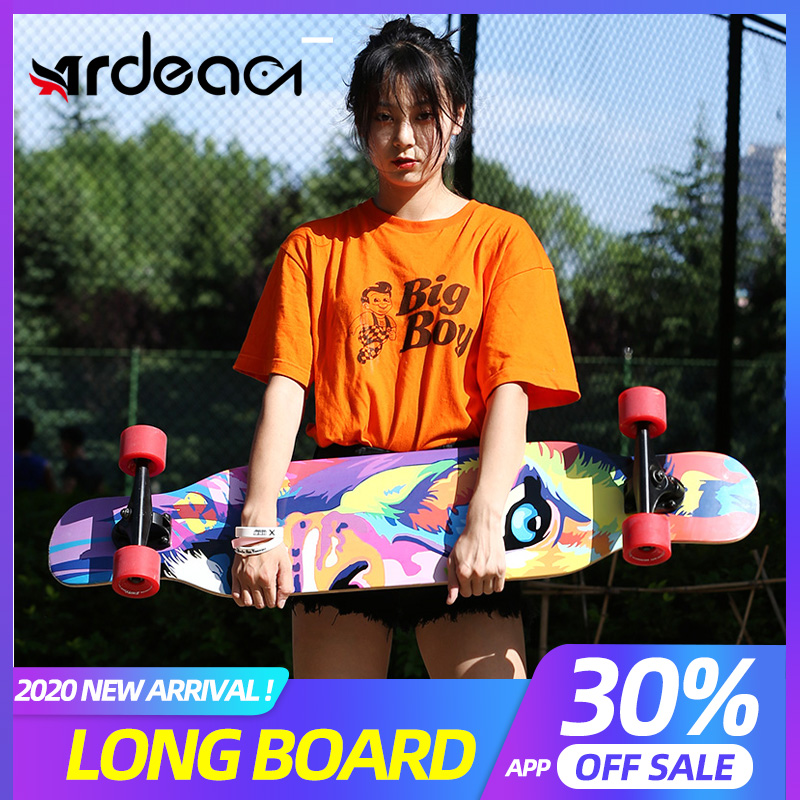 ARDEA MS400 Beginnner 107cm/42in Longboard 7in Aluminium Truck Abec-7 Carton Steel Bearing Long Board Skateboard