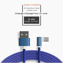 Madevil Durable Nylon Braided micro usb cable fast charging for android cellphone huawei xiaomi  HTC