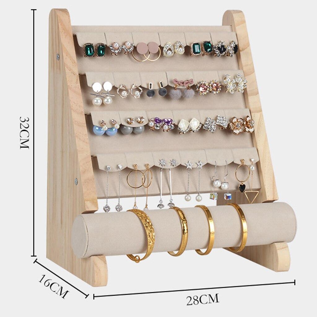 Brinco de madeira expositor brincos titular vitrine t bar pulseira titular