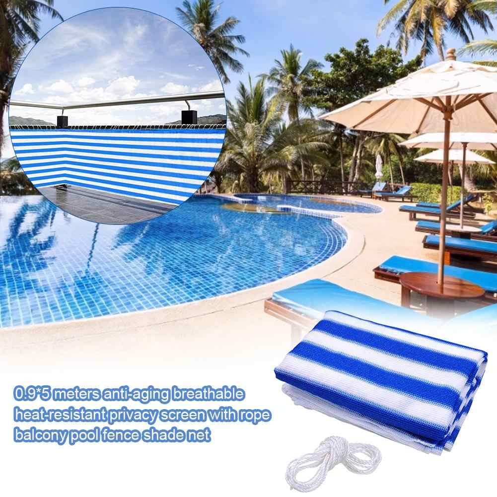 9X50M Home Balcony Privacy Screen Cover Fence Swimming Pool Deck Shade Sail  Yard Cover Anti-UV Sunblock Wind Protection