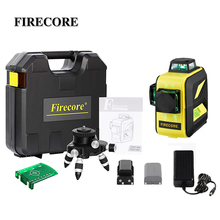 FIRECORE 2 Lithium Battery 12Lines 3D F93T-XR F93T-XG Suitcase Red/Green Laser Level +Battery Charger