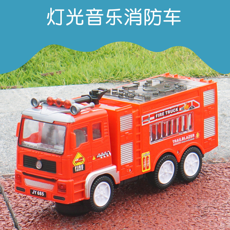 Children Electric Toys Fire Truck Model Sound Light Large Size Electric Engineering Car Stall Hot Selling