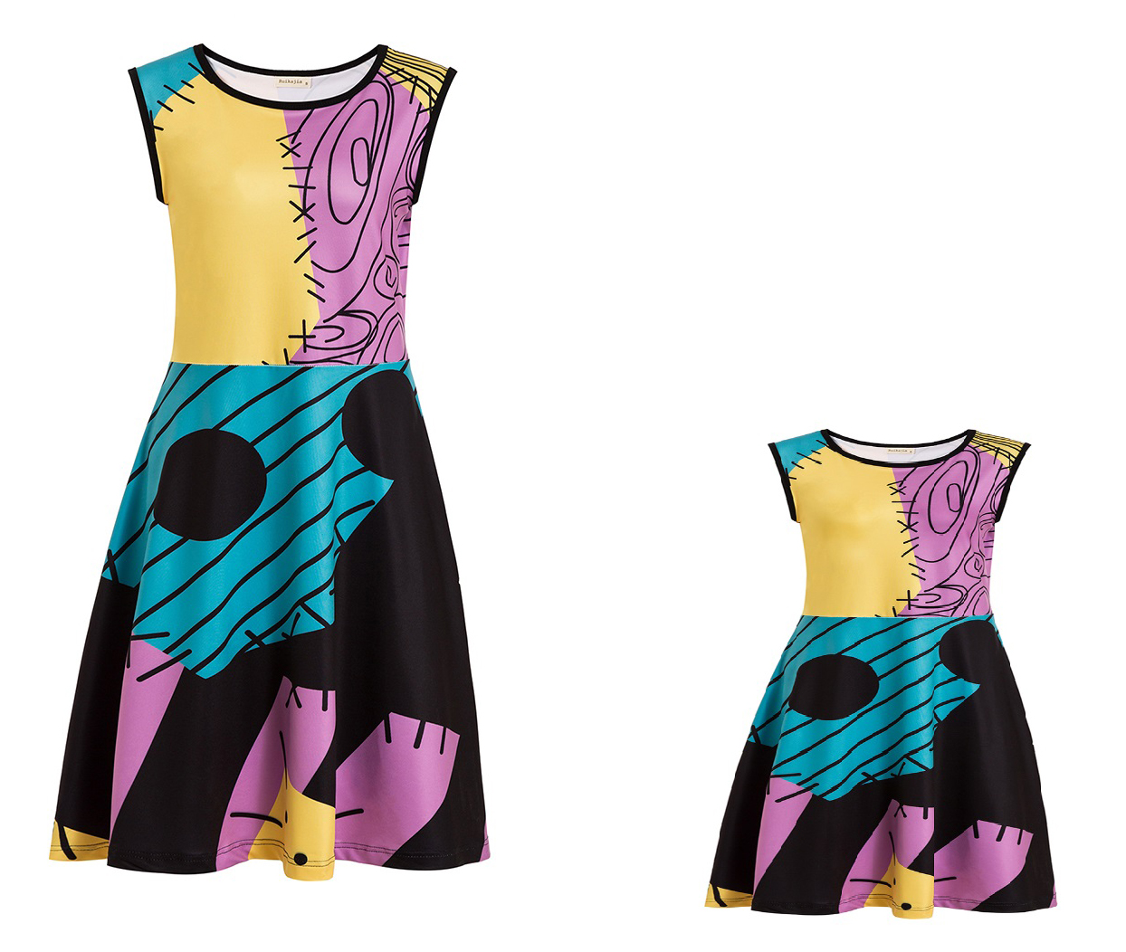 The Nightmare Before Christmas Classics Sally Women's Costume For Infants Adult Size Mommy Princess Dress Kids Princess Dress