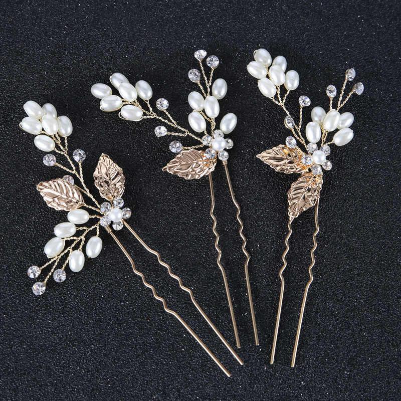 Hoja de Metal accesorios para el cabello de boda diademas para el cabello de novia corona y tiaras para el cabello de novia diademas de joyas