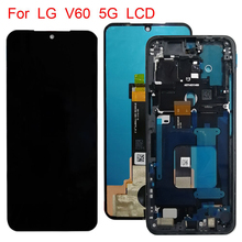 מבחן מקורי עבור LG V60 LCD תצוגת מסך מגע Digitizer עצרת עבור LG V60 ThinQ 5G LM V600 LCD תצוגה החלפת חלקים