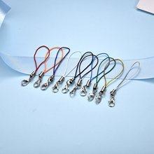 20 Pcs Karabiner Verschluss Haken Stecker Lariat Strap Cords Farbe Schlüssel Lanyard DIY Schmuck Makeing Anhänger Zubehör