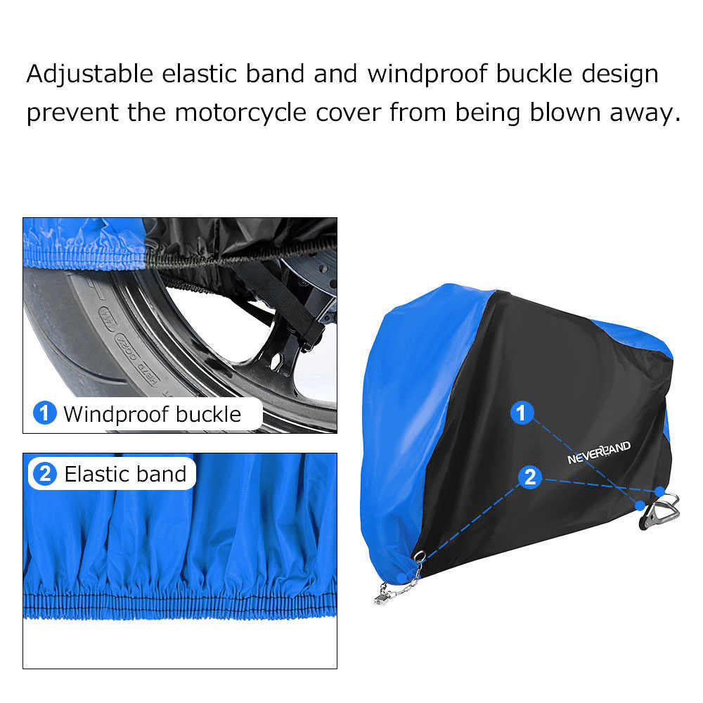 Walmeck Motorcycle Cover Waterproof Dustproof for Winter Outside Storage for 125CC-150CC Motorcycle