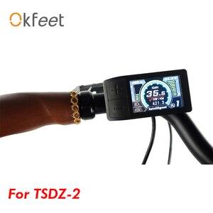 Okfeet Tongsheng TSDZ 2 silnik typu middrive wyświetlacz LCD 500C kolorowy ekran do elektrycznego zestawu do konwersji roweru E