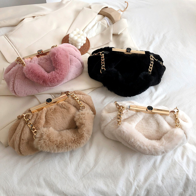 Faux Fur Cluth Bag 5