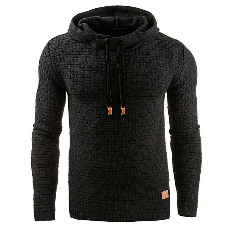 New Brand Hooded Sweater Long Sleeve Men Autumn Winter Warm Knitted Men's Sweater Casual Pullover Cotton Coat Plus Size 5xl