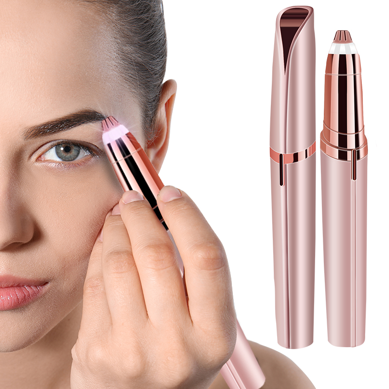 Mini Electric Hair Removal Eyebrow Trimmer Epilator Lipstick Brows Pen Hair Remover Painless Eye Brow Razor Shaver