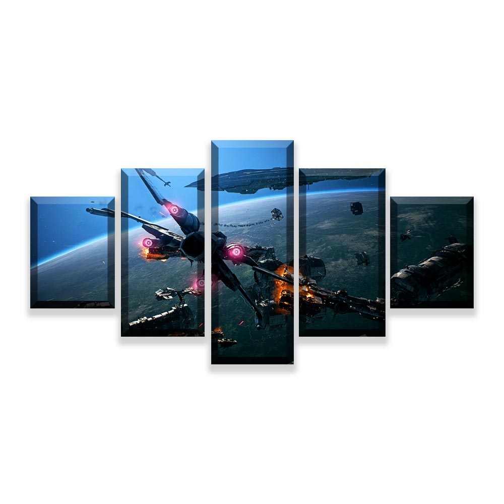 HD Prints Pictures Wall Art Canvas Posters Home Decor 5 Pieces Star Wars Movie Paintings For Living Room Framework (6)