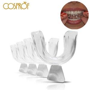 4pcs Night Teeth Whitening Dental Braces Mouth Trays Guard Gum Shield Tooth Bleaching Grind Mouth Guard Teeth Whitening Trays(China)