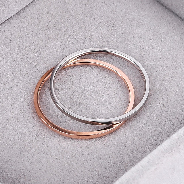 Retro Stainless Steel Rings For Women Men Titanium Ring Korean Style Dating Couple Rings Jewellry Simple Fashion Jewelry R826 3