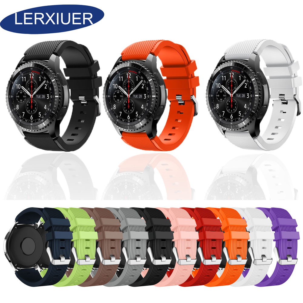 Galaxy Watch Active 2 Strap For Galaxy Watch 46mm 42mm Active 2 40mm 44mm Samsung Gear S3 Frontier Strap Amazfit Bip 22mm 20mm