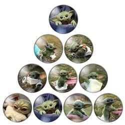 Os animais bonitos do animal de estimação do yoda do bebê 8mm/10mm/12mm/18mm/20mm/25mm redondos photo glass cabochon demo lisos de volta fazendo descobertas zb0543