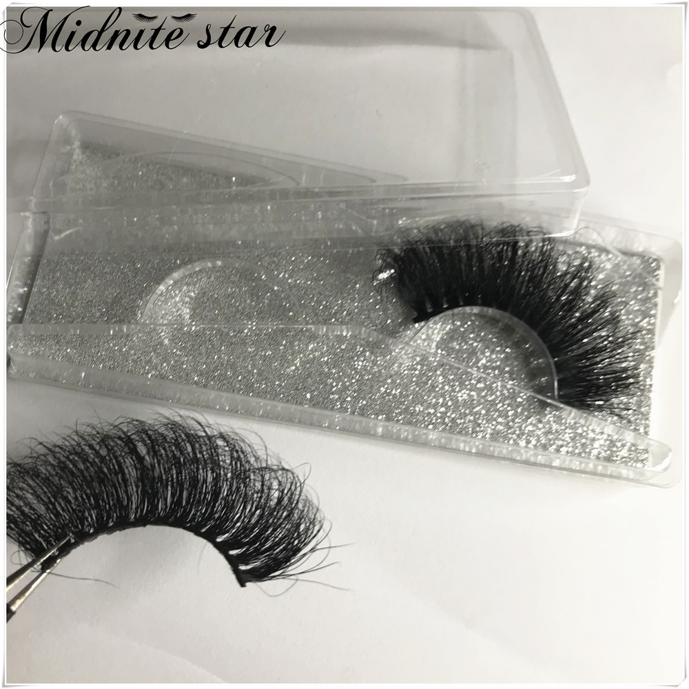 Wholesale 25mm Mink False Eyelashes 20/30/50/100 pc 5D Mink Lashes Gliter box Label Makeup Dramatic Long Mink Lashes