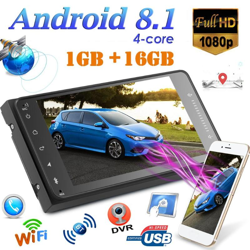 ALLOYSEED 7 pouces 2 DIN Android 8.1 autoradio Bluetooth GPS Navi USB MP5 lecteur FM Radio Support capacitif multi-touch écran